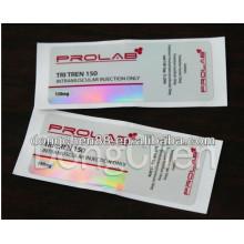 Etiqueta de empacotamento barata do frasco do holograma da etiqueta 10ml da medicina