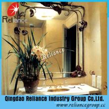 4-8mm Art miroir / verre dépoli gravé à l'acide / miroir décoratif / miroir de décotation d'hôtel / miroir de salle de bain / bon miroir de Quanlity / miroir transformé