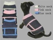 XS , S Small Winter dog coats Faux Fur Lining Denim Jacket
