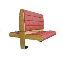 Canapé de deux cabines latérales en tissu de couleur rouge