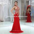Nouvelle Arrivée Sexy Halter Rouge Couleur Sans Manches Longue Maxi Femmes Robe De Soirée