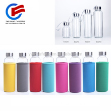 Large 430ML Water Bottle Glass Coffee Mug Outdoor Drinking Cup