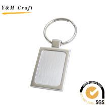 Llavero de metal de alta calidad con forma de rectángulo para regalo (Y02276)