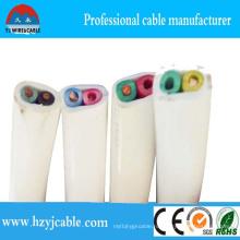 2 Coresflat Cable PVC Плоский кабель и провод 2 сердечника с электрическими цветами провода