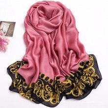 Écharpe en polyester imprimé de haute qualité femmes en mousseline de soie doux foulard en mousseline de soie printemps hijab en gros