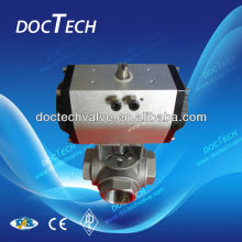 3-Way High Mounting Ball Valve With Pneumatic Actuator