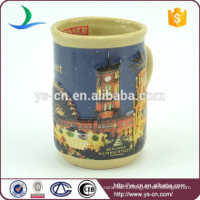 YScc0016-01 night building pattern ceramic wholesale mugs for sale