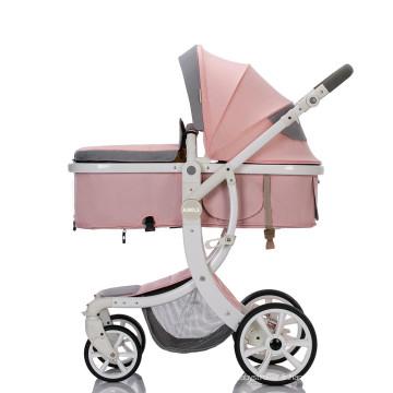 Ensembles de poussette de luxe pour bébé 3 en 1 facile à plier de haute qualité