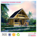 luxury prefab wooden log villa house
