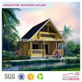 casa de villa de troncos de madera prefabricada de lujo