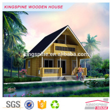 maison de villa en bois préfabriquée de luxe