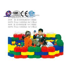 2016 plástico grande cidade blocos de construção para criança