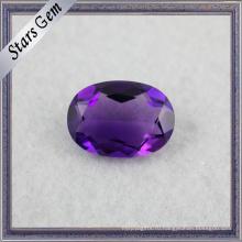 Отличное Качество Овальной Формы Красивый Фиолетовый Натуральный Аметист