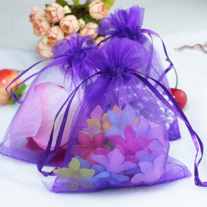 Customized size  wedding favours organza bags