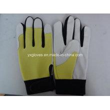 Work Glove-Leather Glove-Pig Grain Leather Glove-Labor Glove-Weight Lifting Glove