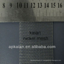 Filet d'électrode nickel filet métallique