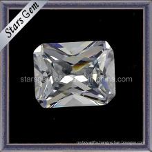 Clearness White Rectangle Shape Octagon Princess Cut CZ Gemstone