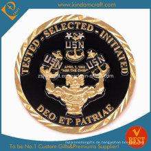 Promotion Enamel Challenge Münze mit Gold Platte