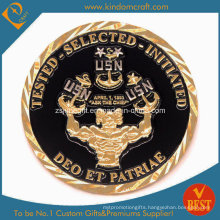 Promotion Enamel Challenge Coin with Gold Plate