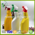 HDPE prix concurrentiel en gros de qualité supérieure OEM caisson de détergent en plastique carré personnalisé avec spray déclencheur