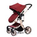 Роскошная детская коляска 3 в 1 складной коляске системы перемещения коляски