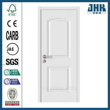 JHK Smooth Teak Wood White Apartment Doors