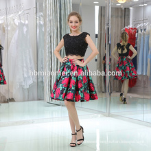 OEM manufacturer women garments fashion evening gowns tie pleated short flare dress