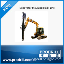 Excavator Mounted Drill Rig From China