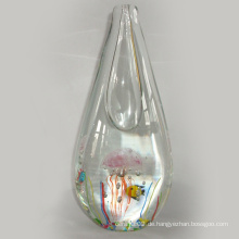 Kunst Glasvase mit Jellyfish