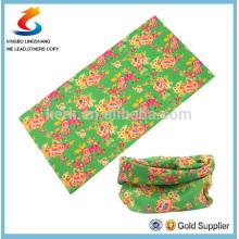 100% Poliéster Multifunción impresa bandana de tubo, bandana de deporte multifuncional, bandana LS