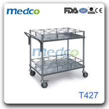 Hospital wire shelf cart T427