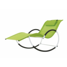 Alu rocking chair with removable cushion