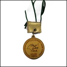 Golden Compétitive médaille avec la médaille du logo Stampped Ruban (GZHY-JZ-026)
