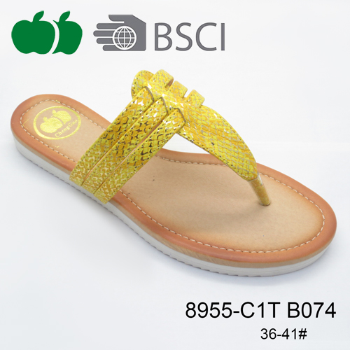 popular pu women slippers