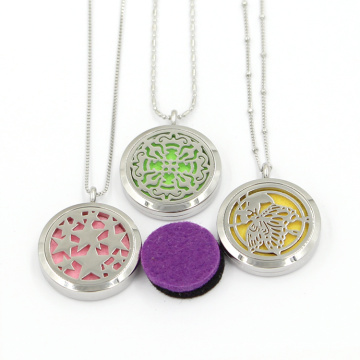 25mm Stainless Round Different Design Perfume Locket Pendant