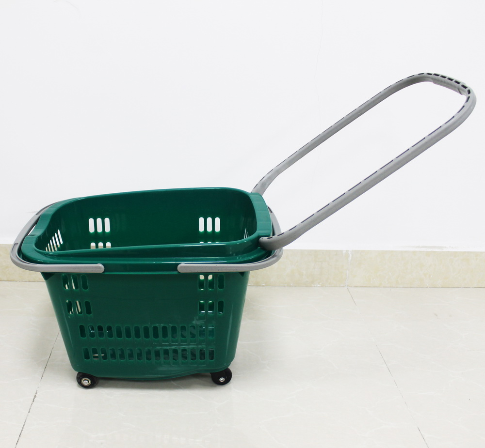 SPB-06 green plastic shopping basket