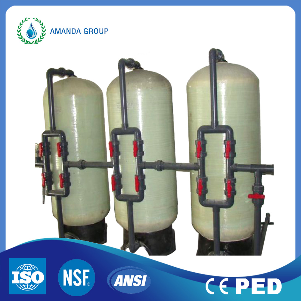50m3 / uur Water Treatment Pressure Automatic Backwash Sand Filter Tank