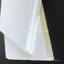 Panel de techo acústico de fibra de vidrio