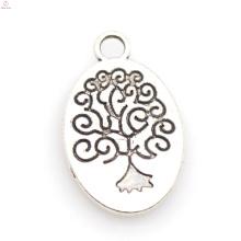 Italia fornido plata árbol de la vida encanto joyería al por mayor