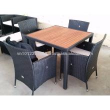 Wicker Outdoor / Garden Furniture - Dining set 1+4