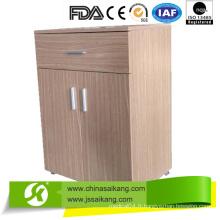 Cabinet détachable de chevet d'hôpital de placage de papier