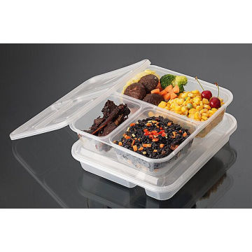 2016 Quality Disposable Compartment Blister PP Microwave Food Container