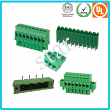 Factory Supply 5.08mm Pitch Male Female Pluggable Plastic Terminal Block