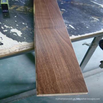 Revestimento de madeira pré-acabado de madeira de nogueira americana