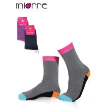 Miorre OEM de moda personalizada de las mujeres calcetines de colores de algodón de calidad de algodón