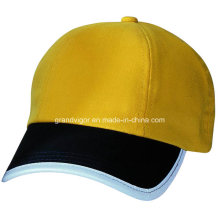 OEM Brushed Cotton Baseball Cap with Silver Reflective Piping