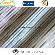 Polyester-Garn gefärbtes Streifen-Hülsen-Auskleidungs-Gewebe für den Anzug der Männer drei Farben
