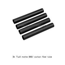 Sarja 3K rolo liso envolto tubo de fibra de carbono