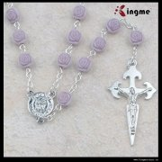Custom jewelry wholesale charms rose acrylic rosary
