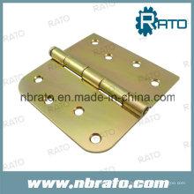 Dobradiça de porta de ferro liso com zinco